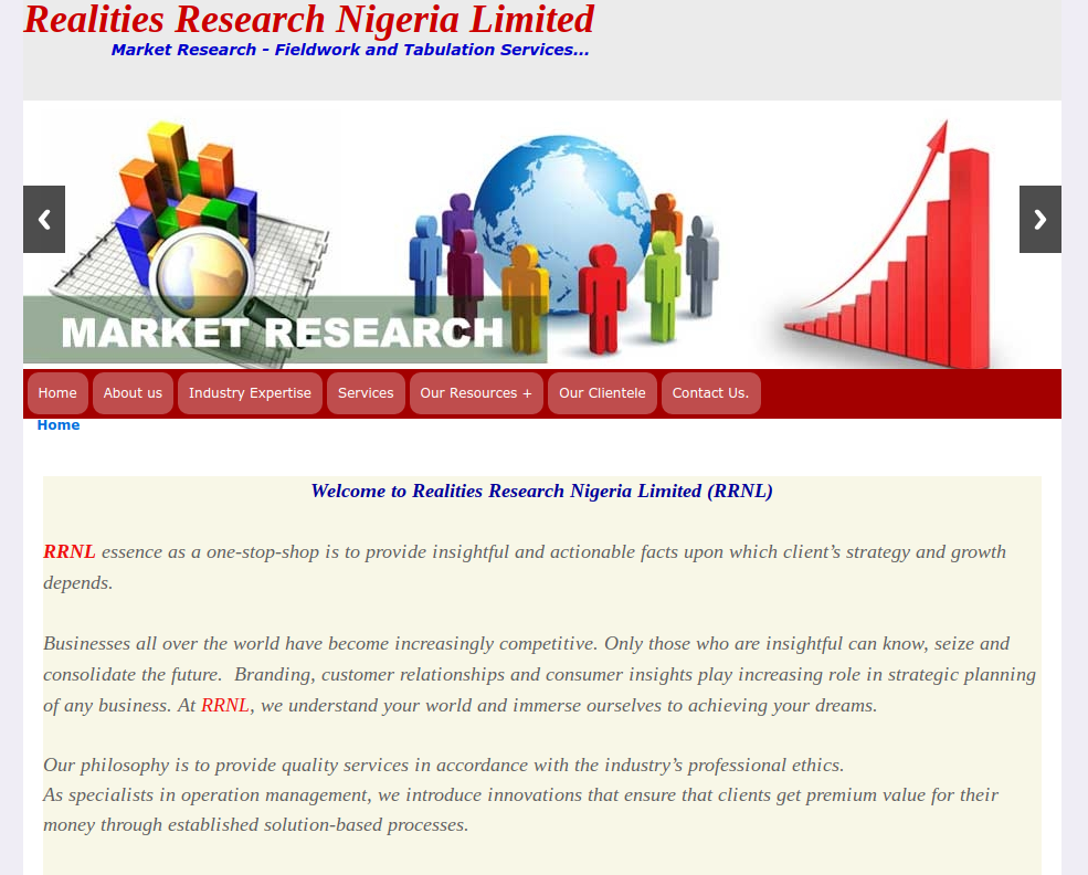 website realities Research Nigeria Ltd